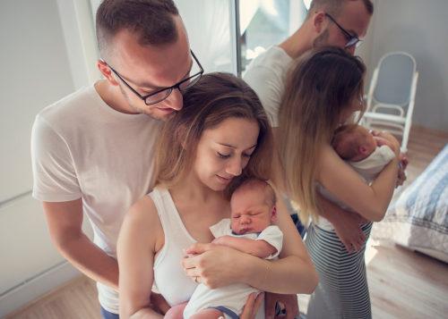 sesje rodzinne noworodkowe w domu w studio katowice gliwice wodzisław