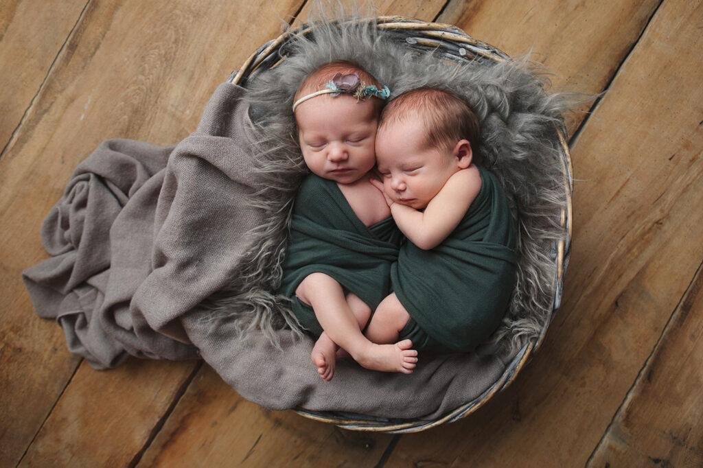 sesja noworodkowa bliźniaków śląsk